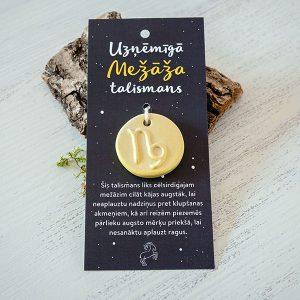 """Māla talismans ar horoskopu zīmi """"Mežāzis"""""""