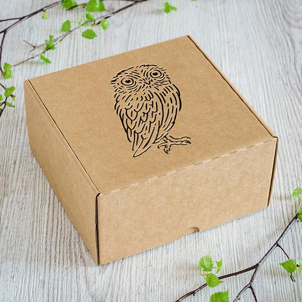 Maza dāvanu kaste ar lāzergrieztu Pūcīti