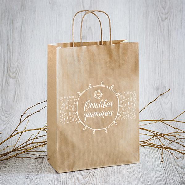 Dāvanu maisiņš Omulības gaismiņas ar baltu apdruku