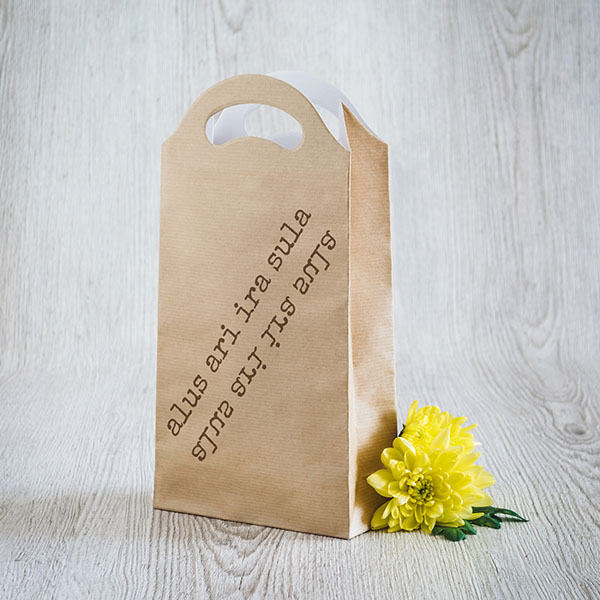 Dāvanu maisiņš ar tekstu Alus arī ira sula