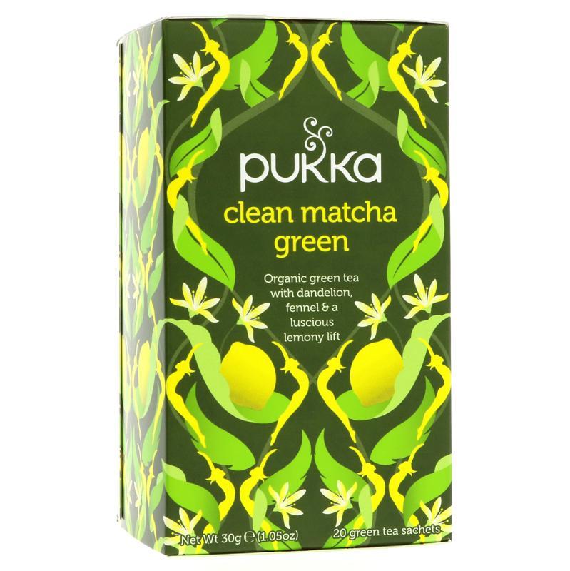 Pukka clean matcha green zaļā tēja ar citronu 20 paciņas