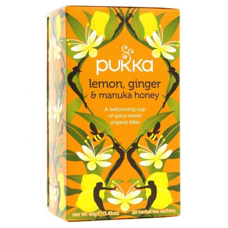 Pukka citrona, ingvera un manukas medus tēja 20 paciņas
