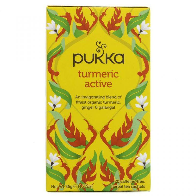 Pukka aktīvā kurkuma tēja 20 paciņas