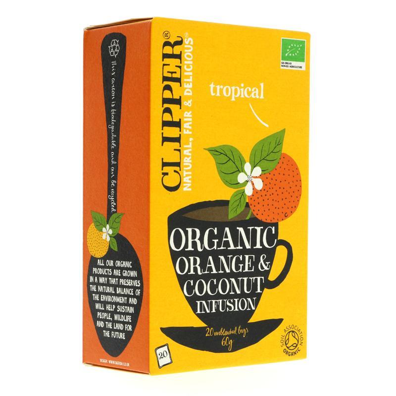 Clipper bio tēja ar apelsīniem un kokosriekstiem