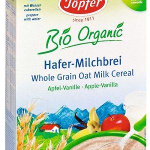 Auzu-piena biezputra ar ābolu un vaniļas garšu. Bērniem no 6 mēnešu vecuma