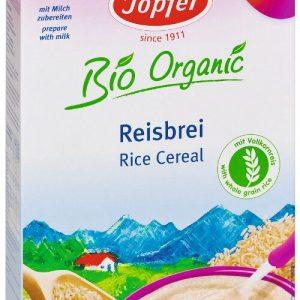 Pilngraudu rīsu biezputra. Piemērota bērniem no 6 mēnešu vecuma