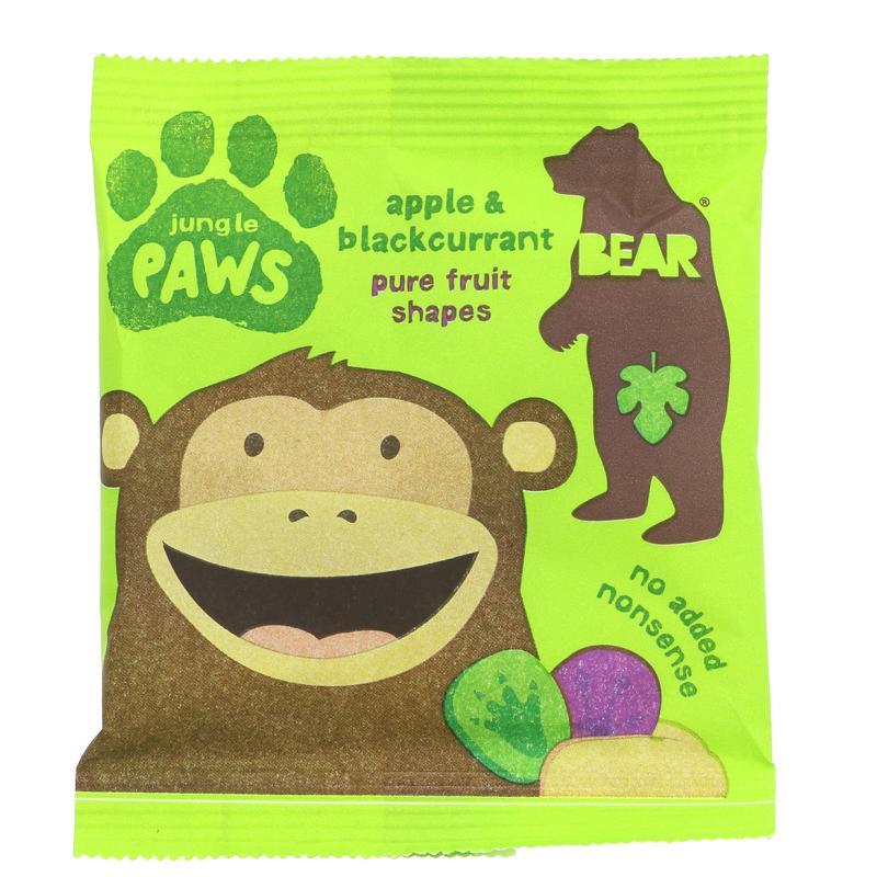 Želejas konfektes bērniem ar upeņu un ābolu garšu. Nesatur glutēnu un ir vegāniem draudzīgs produkts