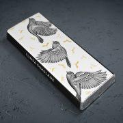 dadzis tumšā šokolāde ar putniem astoņpadsmit grami