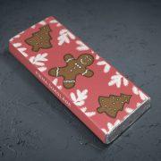 mazā piena šokolāde astoņpadsmit grami ar attēlotām piparkūkām