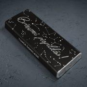 mazā tumšā šokolāde astoņpadsmit grami ar tekstu brīnumi piepildās