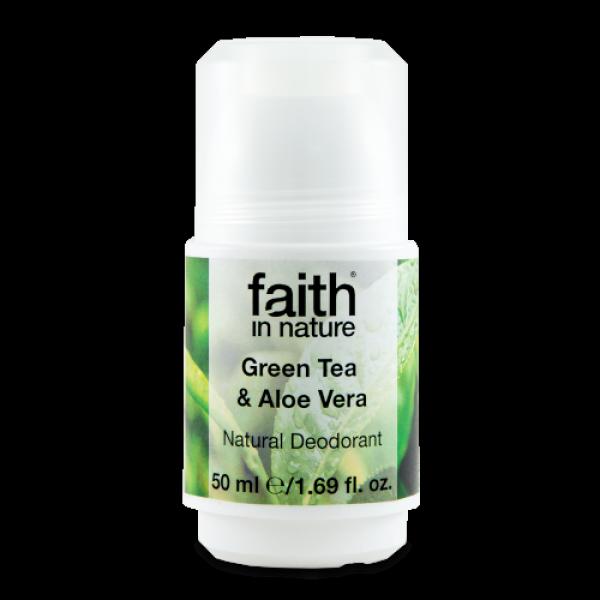 Zaļās tējas un alveja dezodorants, 50ml