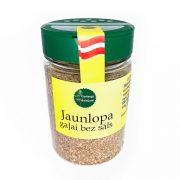 Garšaugu maisijums- Jaunlopu gaļai bez sāls, caurspīdīgā iepakojumā ar dzeltenu etiķeti, 100g.