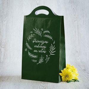 """Dāvanu maisiņš ar tekstu: """"Priecīgus rītus un vakarus"""""""