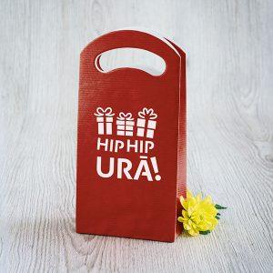 """Dāvanu maisiņš ar tekstu: """"Hip, hip urā!"""""""