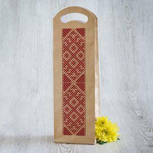 Dāvanu maisiņš ar Lielvārdes jostas zīmējumu