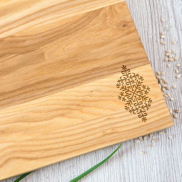 Koka dēlītis ar austras koka zīmējumu