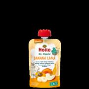 """Holle, BIO banānu, ābolu, mango un aprikožu biezenis """"Banana Lama"""" no 6 mēn., 100g"""