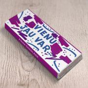 daba piena šokolāde ar tekstu vienu jau var astoņpadsmit grami