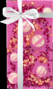 Skrīveru saldumi, rozā šokolāde ar ķiršiem, dzērvenēm un riekstiem, 100g