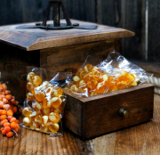 Amberfarm, smiltsērkšķu karameles – bumbiņas, 100g